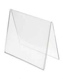 Table Display Tent Card Transparent