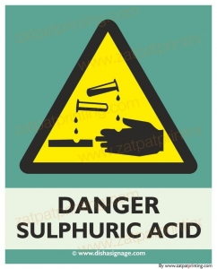 Danger Sulfuric  Acid