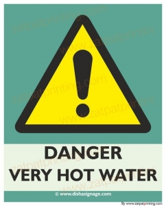 Danger Very Hot Water