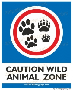 Caution Wild Animal Zone