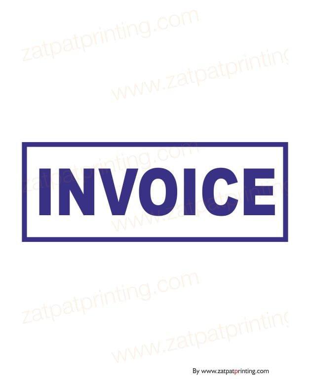 Invoice Stamp Zatpatprintingcom - Invoice stamp