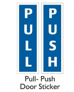 Pull-Push Sticker (Pack Of 2 Set)