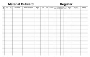Outward Register
