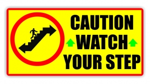 Watch Your Step Decal