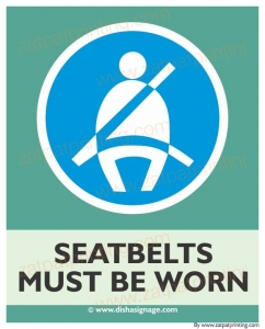 Seat belts Must Be Worn