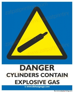 Danger Cylinders Con. Explo