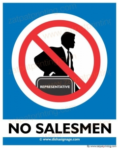 No Salesmen
