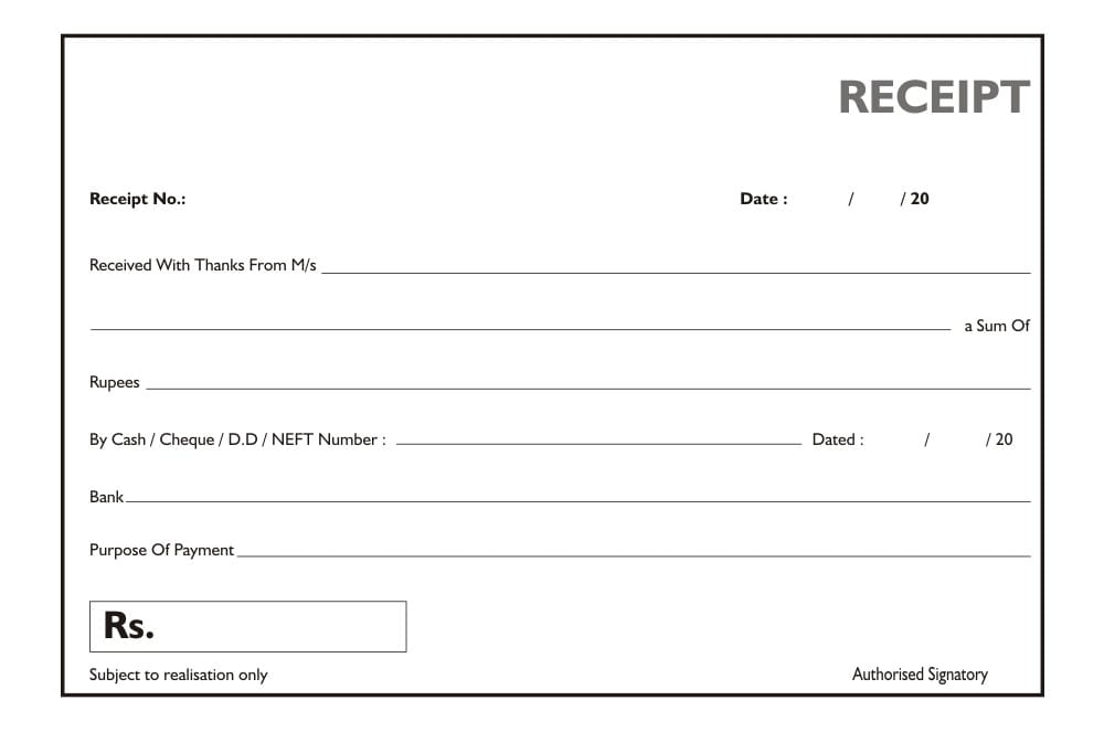 Reciept Book General Zatpatprinting Com