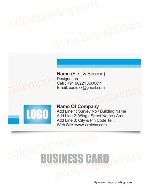 Business Visiting Card Zatpatprinting