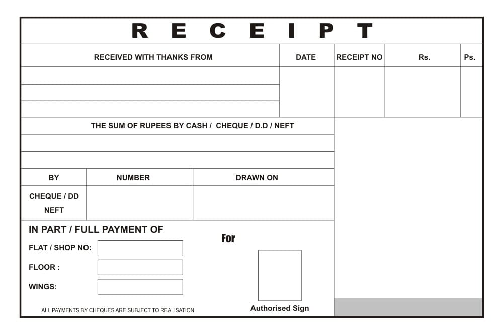 Sales Receipt Template  Free Printable Receipts